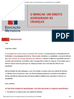 O BRINCAR - UM DIREITO ASSEGURADO ÀS CRIANÇAS