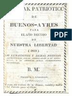 1819, Almanak patriótico de la ciudad de Buenos Ayres