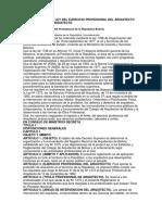 DS Nº25905 REGLAMENTO DE LA LEY DEL EJERCICIO PROFESIONAL DEL ARQUITECTO