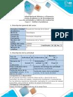 Guía de actividades y rúbrica de evaluación - Fase 2 - Definir el problema