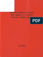 EXPERIMENTAL DETERMINATION OF PARAMETERS OF SYNCHRONOUS GENERATOR