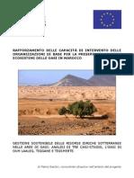 Report 'Gestione sostenibile delle risorse idriche sotterranee nelle aree di oasi analisi di tre casi-studio, l'oasi di Oum Laaleg, Tiggane E Tigsmerte'