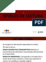DIAPOSITIVAS NIVELES DE LECTURA
