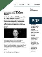 Una introducción al pensamiento de Judith Butler