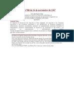 Hidrocarburos Ley Nº 3788 de 24 de noviembre de 2007