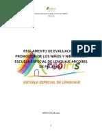 REGLAMENTO DE EVALUACION Y PROMOCION