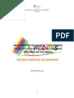 REGLAMENTO DE HIGIENE Y SEGURIDAD DE LA ESCUELA ESPECIAL DE LENGUAJE ARCOÍRIS DE PALABRAS 1