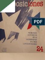 Problemas históricos de la modernidad en Chile contemporáneo. [Revista]. Proposiciones.  Santiago de Chile  Ediciones SUR, Vol.24, agosto, 1994.