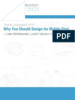 Why You Should Design for Mobile First_wroblewski-Tues-talk