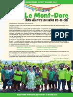 Romuald Pidjot, programme  Mont-dore