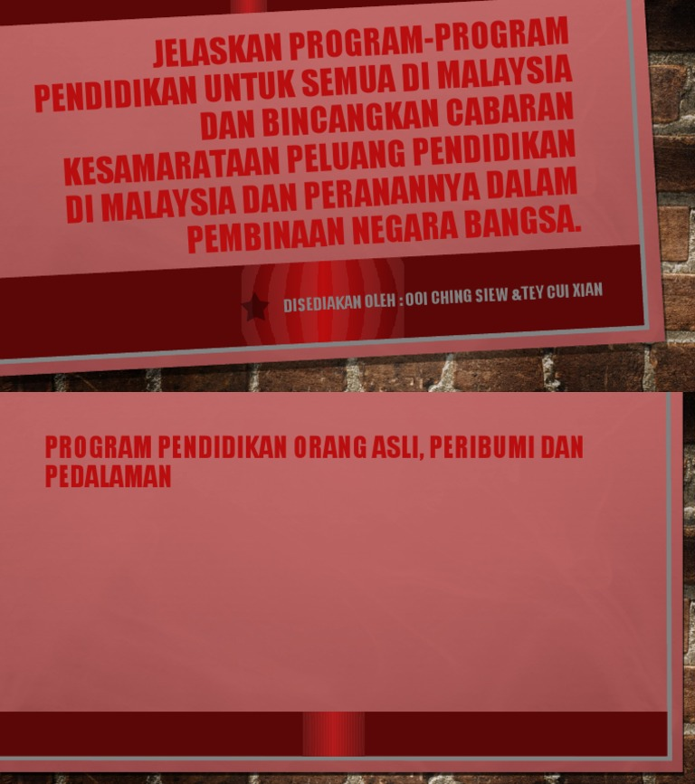M8jelaskan Program Program Pendidikan Untuk Semua Di Malaysia