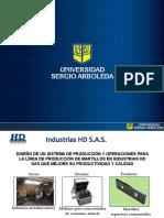 Diseño de Un Sistema de Producción y Operaciones Para La Línea de Producción de Martillos. Industrias HD