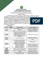 Edital 31-2018 - Prof. Substituto
