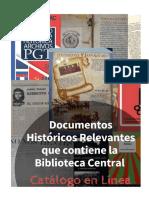 DOCUMENTOS HISTORICOS RELEVANTES - CATALOGO EN LINEA
