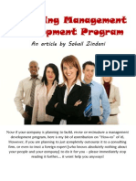 Designing a Management Development Program