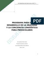 2 PROGRAMA  DE LENGUAJE PARA PREESCOLAR