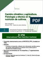 Cambio climático y agricultura. Fisiología y efectos en la producción de cultivos - Art.