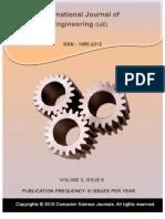 International Journal of Engineering (IJE), Volume (3)