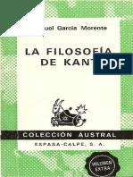 Garcia Morente, M. - La Filosofia de Kant [1976]