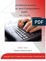 International Journal of Logic and Computation (IJLP), Volume (1)