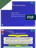 Menu - Plans départementaux