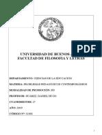 Programa Problemas Pedagógicos Contemporáneos Prof Suárez