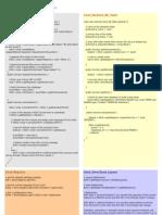 Zend Framework Cheat Sheet
