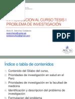 clase introductoria curso tesis I problema de investigacion 6mar19