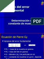 Constante de Muestreo PIERRE GY
