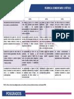 Rúbrica 2 de evaluación COMENTARIO CRÍTICO