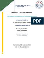 TRATAMIENTO PRIMARIO DE AGUAS RESIDUALES