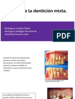Análisis de la dentición mixta Orto