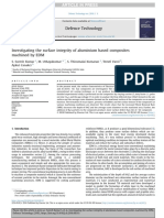 Investigating the surface integrity of aluminium based composites machined by EDM