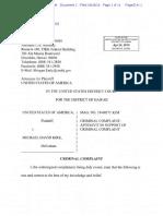 Criminal complaint Michael David Kirk