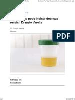 Cor da urina pode indicar doenças renais -  Drauzio Varella