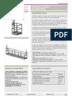 Andamio colgante manual, plataforma suspendida manual, manual suspended platform,