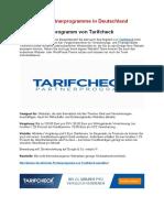 Die Besten Partnerprogramme in Deutschland - Tarifcheck