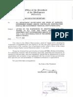 Memorandum lifting UNHRC signatory aid ban Feb 27 2020