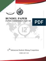 Bundel Paper (Paper Competition ISMC XII)