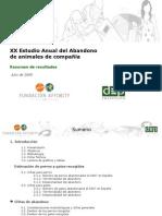 ESTUDIO ABANDONO PERROS-GATOS 2008 AFFINITY