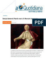 Senza Aeterni Patris Non C'e Rerum Novarum