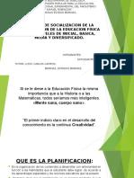 Taller de Socialización de La Planificación de La Educación Física.