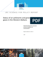 Status of Air Pollutants and Greenhouse Gases in the Western Balkans