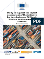 Study to Support the Impact Assessment of the Initiative for Developing an EU Single Window Environment for Customs