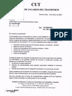 Reclamo de la Comisión de Usuarios del Transporte