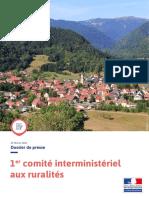 Dossier de Presse - 1er Comite Interministeriel Aux Ruralites - 20.02.2020