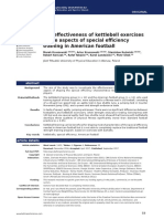 The Effectiveness of Kettlebell Exercises in the Aspects of Special Efficiency Training in American Football