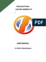 Elektra User Manual