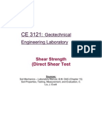Shear Strength (Direct Shear Test