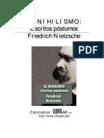 Nietzsche, Friedrich - El Nihilismo (Escritos póstumos)